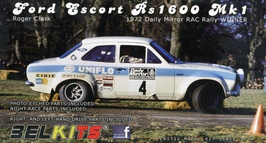 Ford Escort RS 1600 - Uniflo - RAC Rally (1972) - Belkits BEL 007