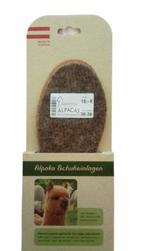 Alpaca Schuheinlagen mit Korkunterlage