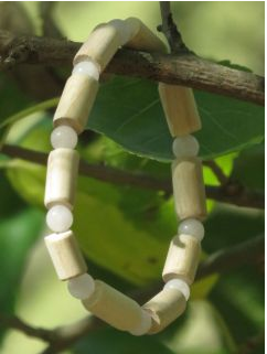 Bracelet Quartz rose, bois de hêtre