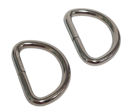 2 D-Ringe 25mm-SILBER