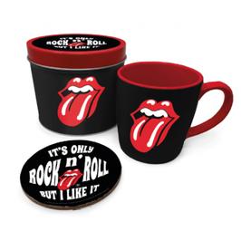 Caja Metálica con Taza y Posavasos It's Only Rock'N Roll
