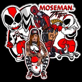 MOSEMAN Sticker Trio