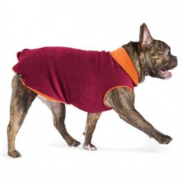 Kuschelweicher Fleece-Pullover garnet/pumpkin *SALE -20%*