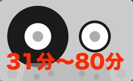 31分〜80分以内のカセットからCD-Rへダビング