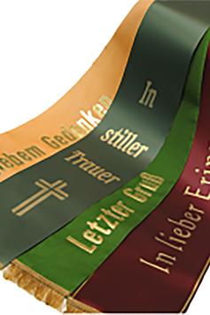 Trauerschleife zu Trauer-Bepflanzung farbig (Schale)