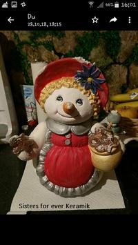 Schneefrau Snowwoman als Keksdose