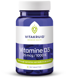 Vitakruid Vitamine D3 - 25 mcg - 1000 IE - 120 tabletten