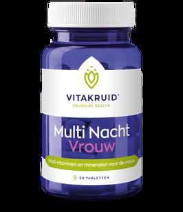 Vitakruid Multi Nacht Vrouw 30 - 30 tabletten