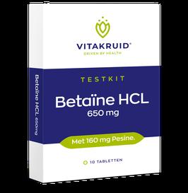 Vitakruid Betaïne HCL 650 mg testkit - 10 tabletten