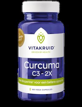 Vitakruid Curcuma C3-2X - 60 vega capsules