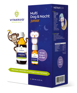 Vitakruid Multi Junior Dag & Nacht - 300 + 60 ml