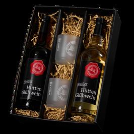 #405 Glühwein Geschenk Rot / Weiß mit Gläser