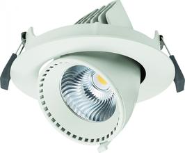 Faro Orientabile da incasso LED 40W - Bianco Naturale - foro incasso Ø225mm - FN00568