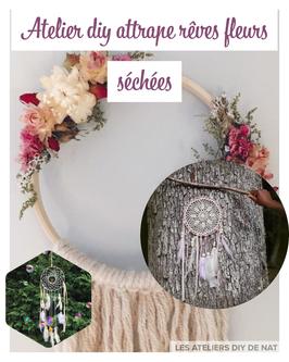 Atelier DIY Attrape-rêve fleurs séchées