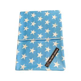 Mutterpass-Hülle - elefant-blue-white-star