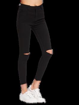 Skinny jeans zwart high waist