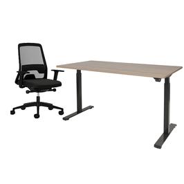 Complete werkplek betaande uit: Elektrisch zit/sta Bureau & Interstuhl Every Bureaustoel