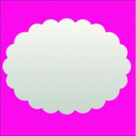 "Stanzer ""Oval, gewellt"", 3.8cm"