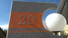 Hausnummer 25 cm Hellgrau RAL: 7H32