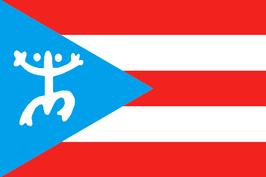 Bandera de Puerto Rico-Coquí Taino