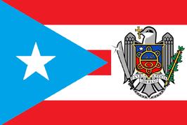 Bandera de Puerto Rico-Escudo Pitirre