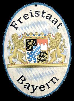 "Holzschild ""Freistaat Bayern"""