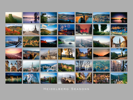 Heidelberg Seasons Fine Art Print
