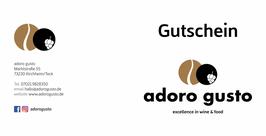 """Wertgutschein """"adoro gusto Frühstück"""" für zwei Personen"""