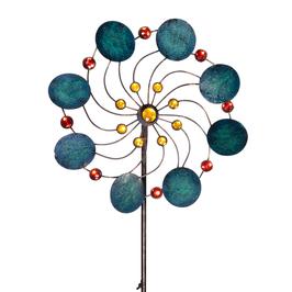 Windspiel Blume Jade aus Metall