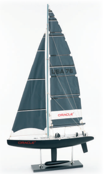 """Edles Modell Segelboot America's Cup """"Oracle"""""""