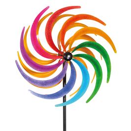 Stilvolles Windspiel Sichelrad 60 cm aus Metall