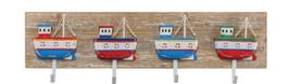 Maritime Holz Garderobe Fischkutter