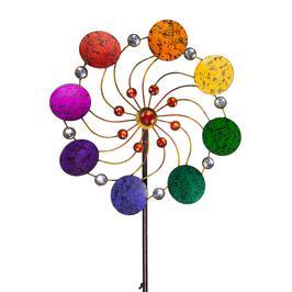 Windspiel Blume Rainbow aus Metall