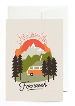 """Grußkarte """"Fernweh"""" mit Umschlag"""