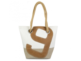 727 Shopper Handtasche Legende Leinen & Leder Nr. 9