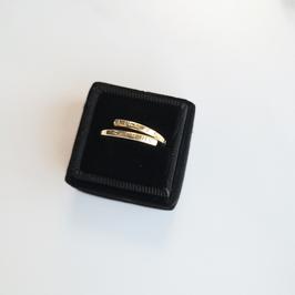 Gold Adjustable Lyric Ring