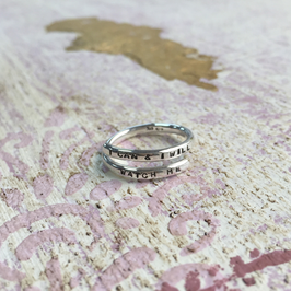 Silver Adjustable Lyric Rings