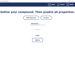 Demo: Chemical Property Prediction (Pure)