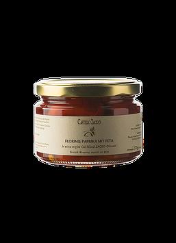 Gefüllte Florinis Paprika m.Feta gefüllt  in Olivenöl nativ extra 270g Glas