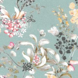 Interlock - Jersey Blüten