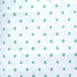 Jersey weß/ grüne Punkte (Kringel)