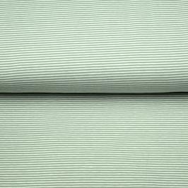 Jersey Streifen weiß/grün oder rosa