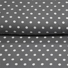 Jersey dunkelgrau/Punkte weiß