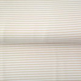 Jersey Streifen weiß/beige