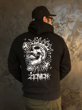 Screaming Skull - Zipped Hoodie