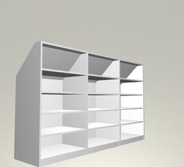 Einbauschrank mit Dachschräge (System Mobiliar erweiterbar)