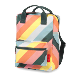 Rugzak medium stripe rainbow