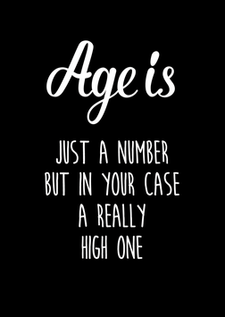 Ansichtkaart: Age is just a number