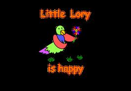 Little Lory is Happy