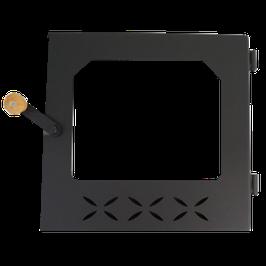Glastür für externe Hottuböfen (Kaminfeeling)